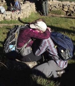 Overwhelmed at Machu Picchu