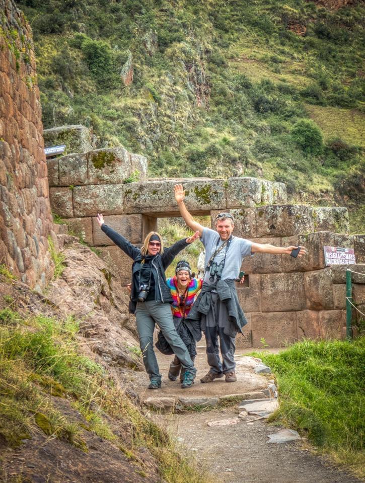Posing in Peru
