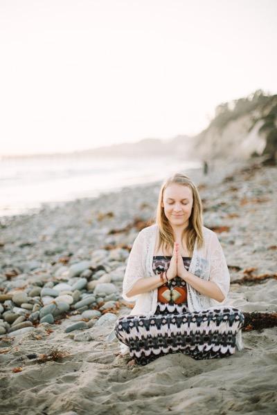 Meghan on Santa Barbara Beach photo credit Lerina Winter Winter Creative Co