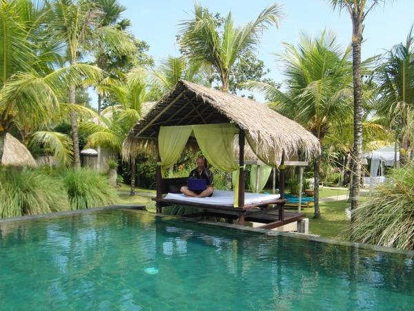 Working hard in Bali!